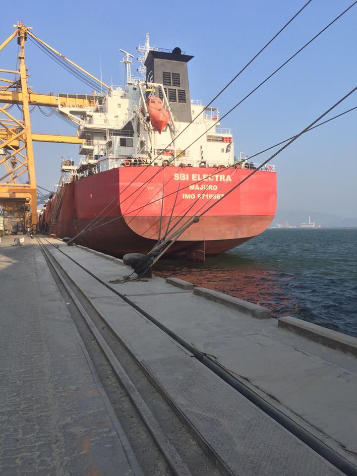 Tàu SBI ELECTRA hàng Ngô, Khô đậu cảng Cái Lân