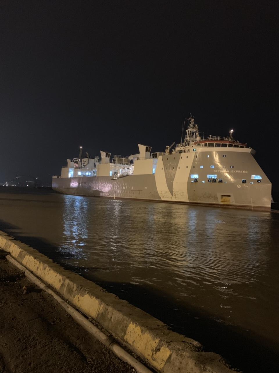 Tầu BòGREYMAN EXPRESS cảng Cá HP