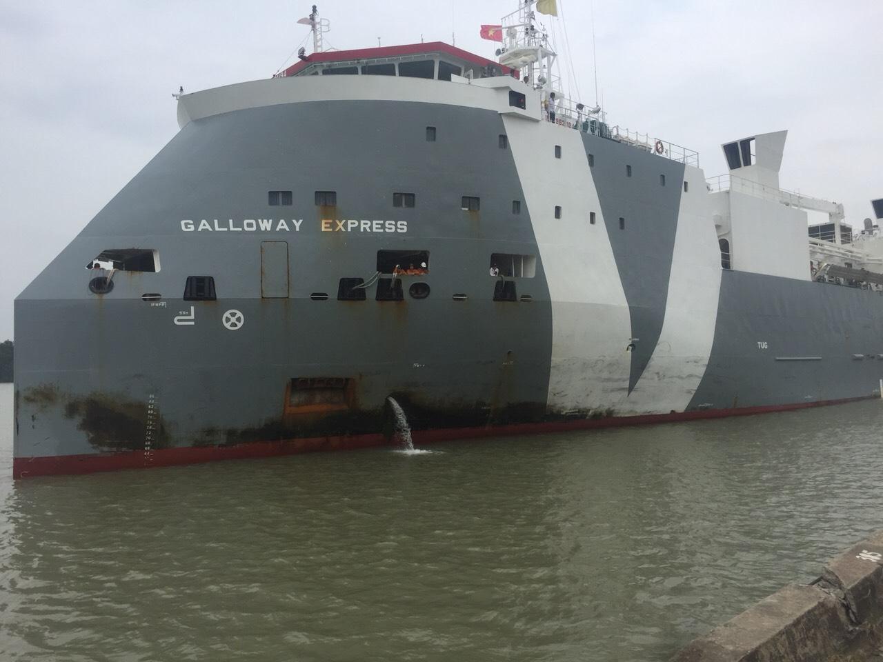 Tầu Bò Úc GALLOWAY EXPRESS cảng Cá HP