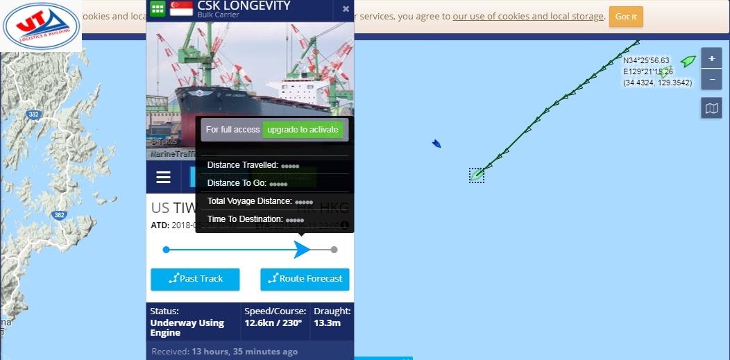 Tầu CSK Longevity mang theo 60.000 tấn Ngô Mỹ