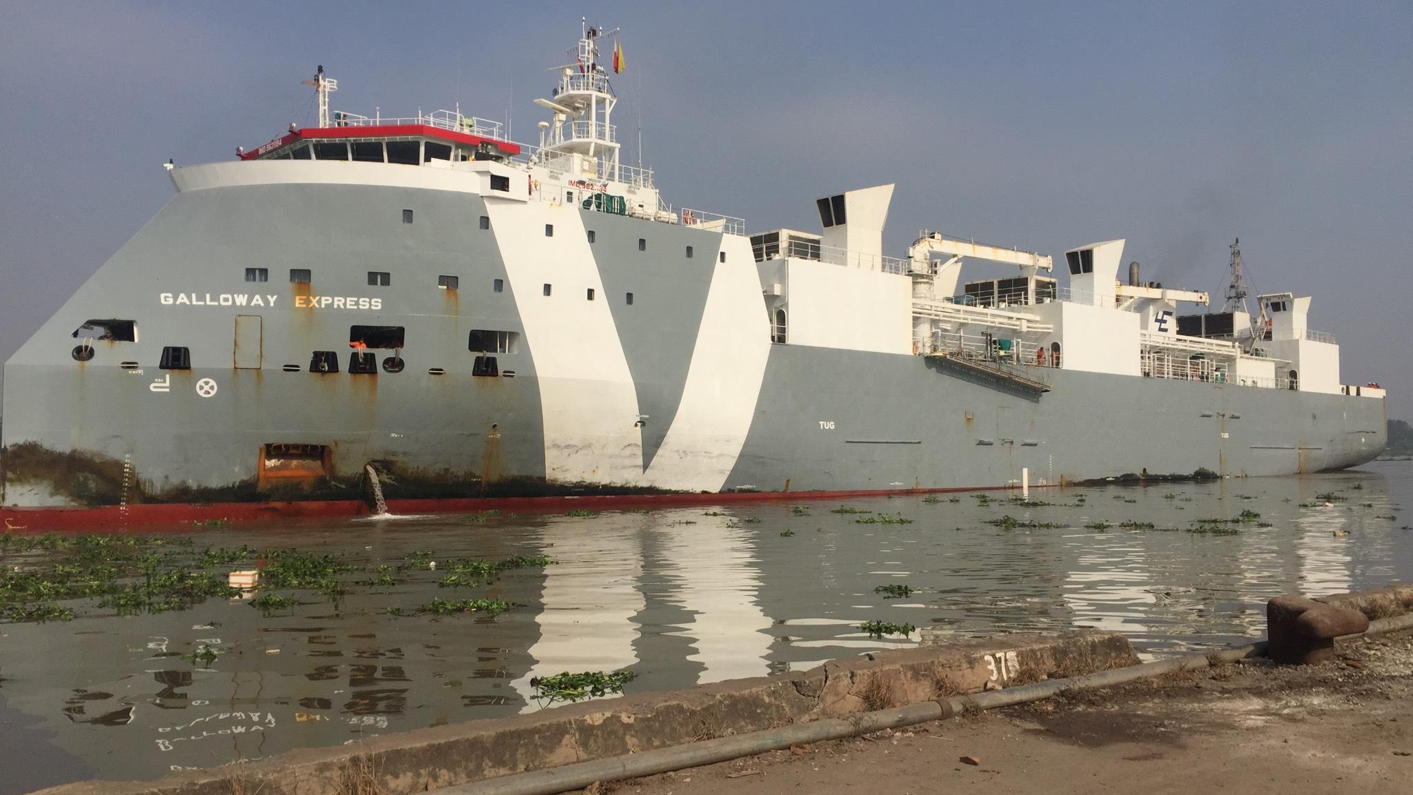 Tầu bò úcGALLOWAY EXPRESS Cảng Cá HP