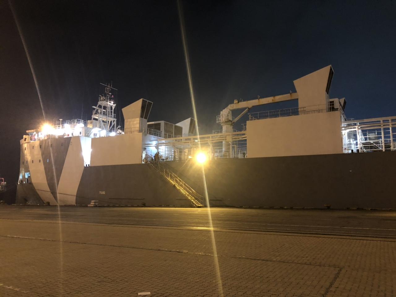 Tầu bò MV Dareen cảng Chùa Vẽ