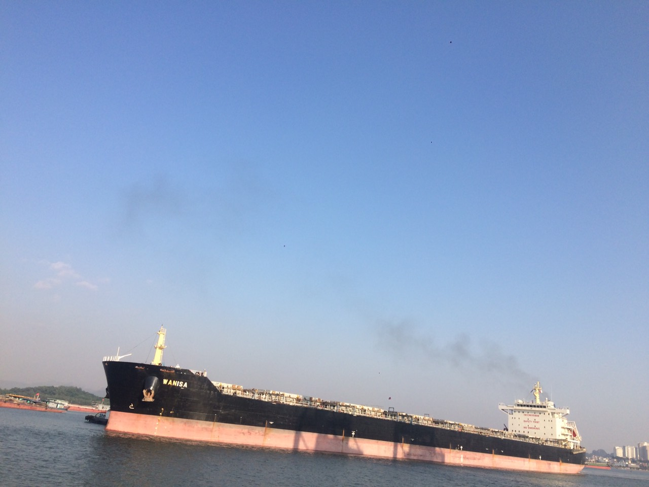 Tầu Wanisa Ngô cảng Cái Lân