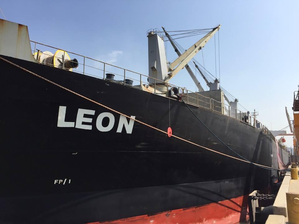 Tầu LEON hàng khô đậu cảng CICT