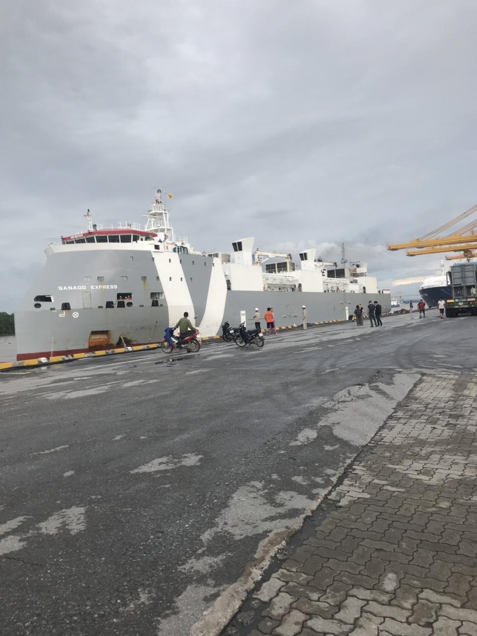 Tầu Bò Úc GANADO và FINOLA cảng Chùa Vẽ HP
